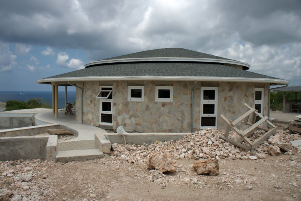 Schitterende Flagstone-wand op Bonaire. Foto Copyright Monte Mare.