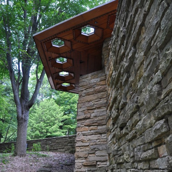 Kentuck Knob Flagstones en Natuurstenen, Architect Frank Lloyd Wright.