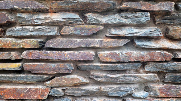 Flagstone gemetselde muur