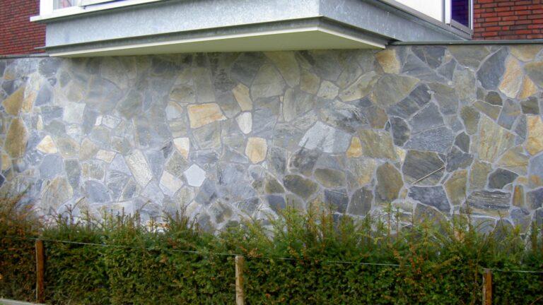 Moderne muren met Flagstones.