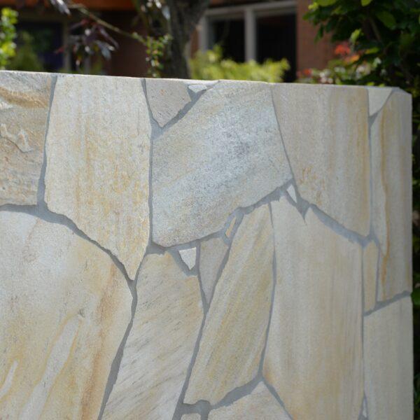 Flagstone Muren in de tuin.