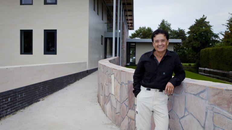 Flagstones Brasil Rosso - Architect Stefan Lakkas.