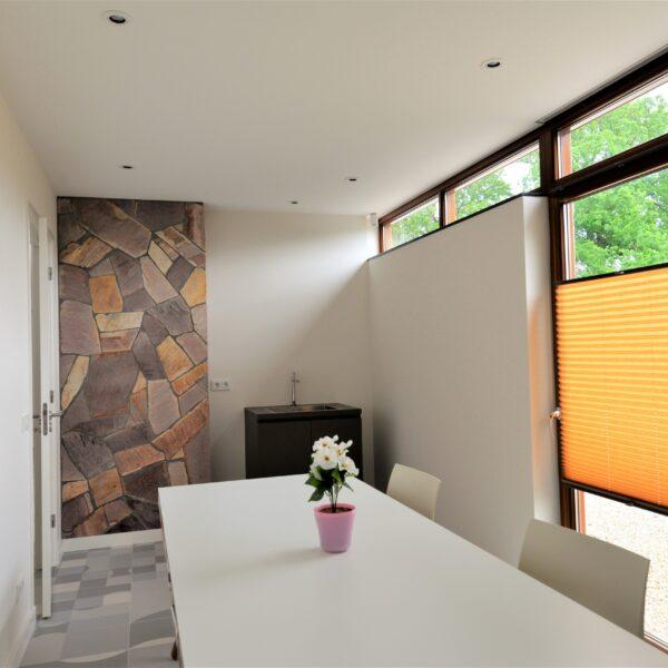 Flagstone muur kamer.