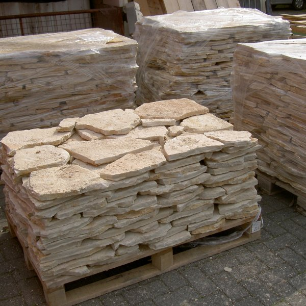 Flagstones Yellow Saliq 2-3 cm pallets