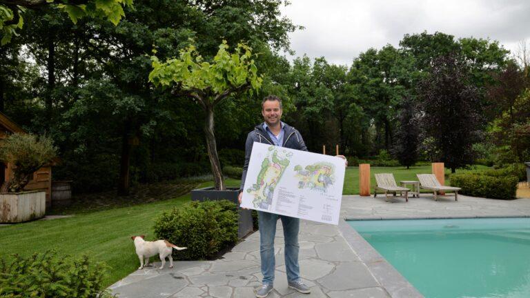 Flagstones in de tuin. Tuinaanleg met Flagstones: P&P Groenprojecten.
