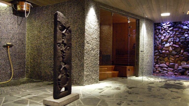 Flagstones in sauna