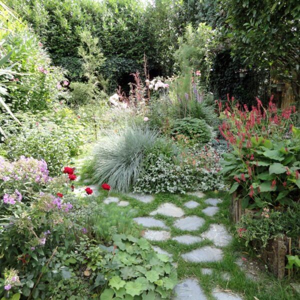 Flagstones losse Stenen in de tuin.