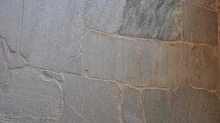 Flagstones Brasil White met een lichte voeg - pergamon ARDEX GK.