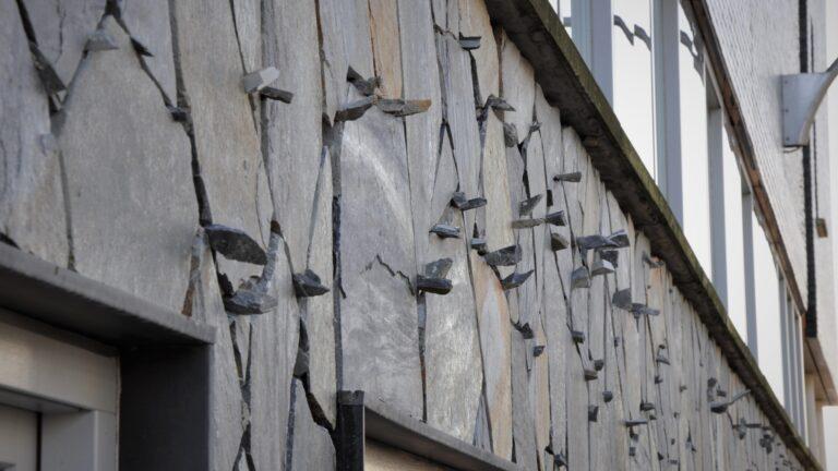 Flagstones muur - Blue Plakes Flagstones.