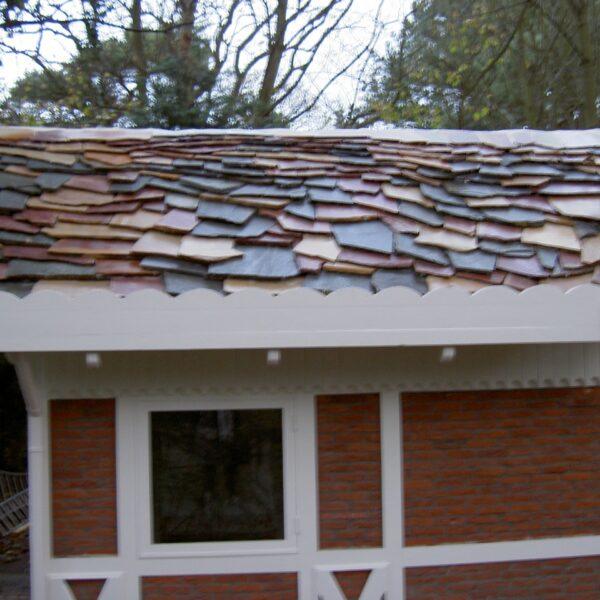 Flagstones op het dak.