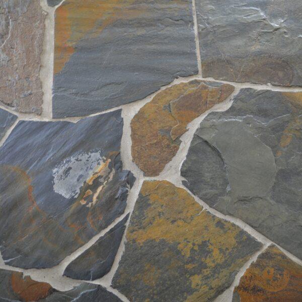Flagstones patroon plaatsen.