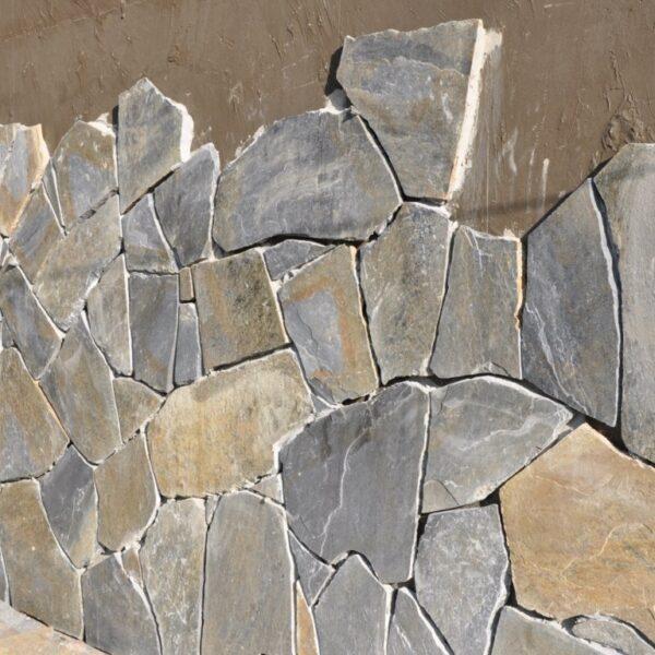 Natuurstenen - Flagstones op de muur - wand plaatsen.