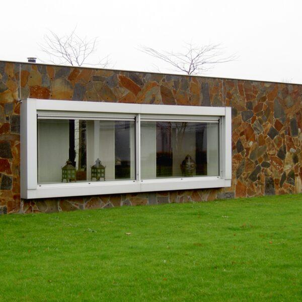 Flagstone muur - gevelbekleding Natuursteen.