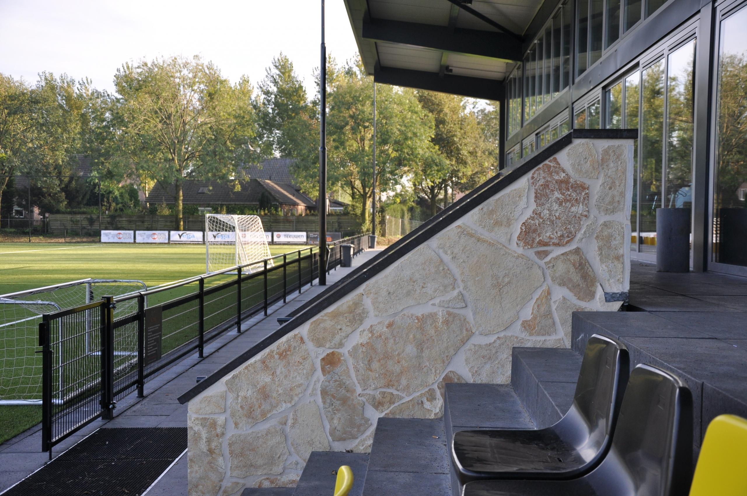 Flagstones Sportpark Amstelhoef te Oss.