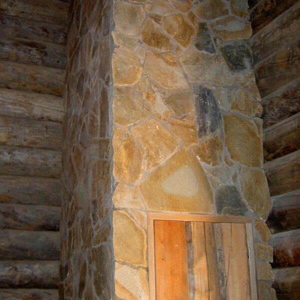 Schoorsteen in Sauna.