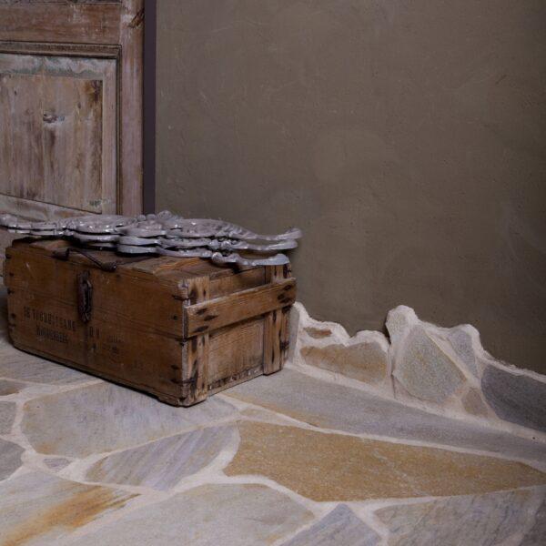 Flagstones woonkamer - leefkeuken.