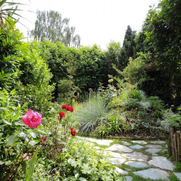 Grijze Stapstenen in de tuin.