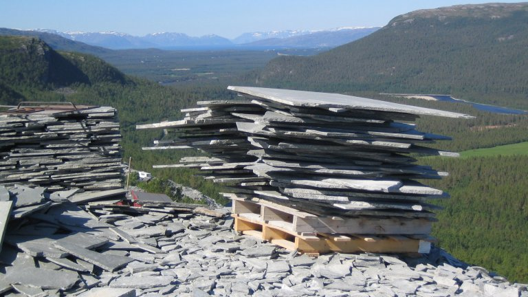 Groeve Alta Kwartsiet Noorwegen.