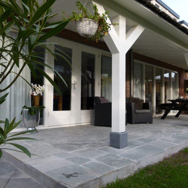 Kavala Flagstones, veranda - grijze Natuurstenen vloer