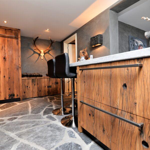 Natuurlijke vloeren keuken.