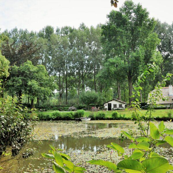 Foto landelijke tuin met Flagstones.