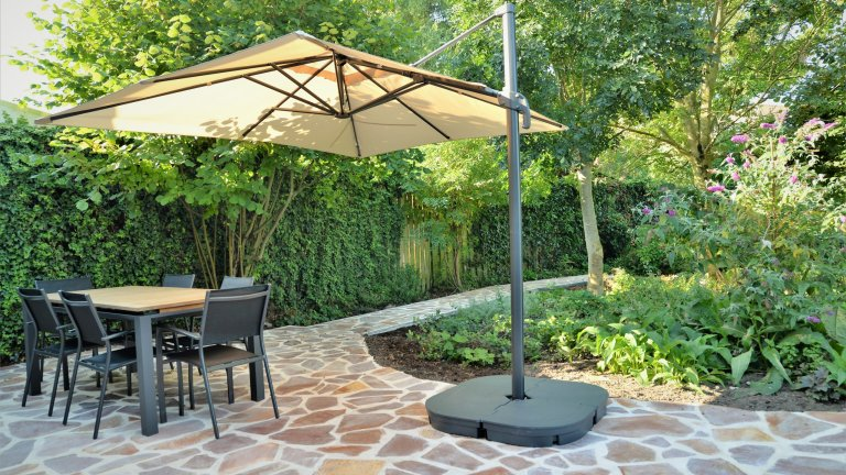 Vrolijke Flagstones - mediterrane tuin.