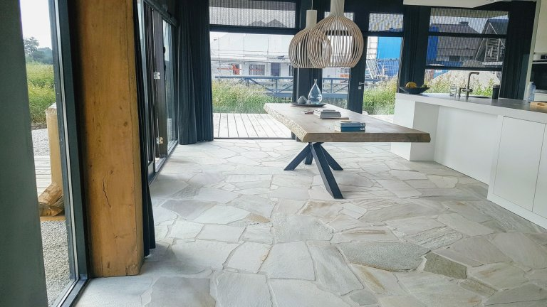 Binnenvloer, Brasil White Flagstones