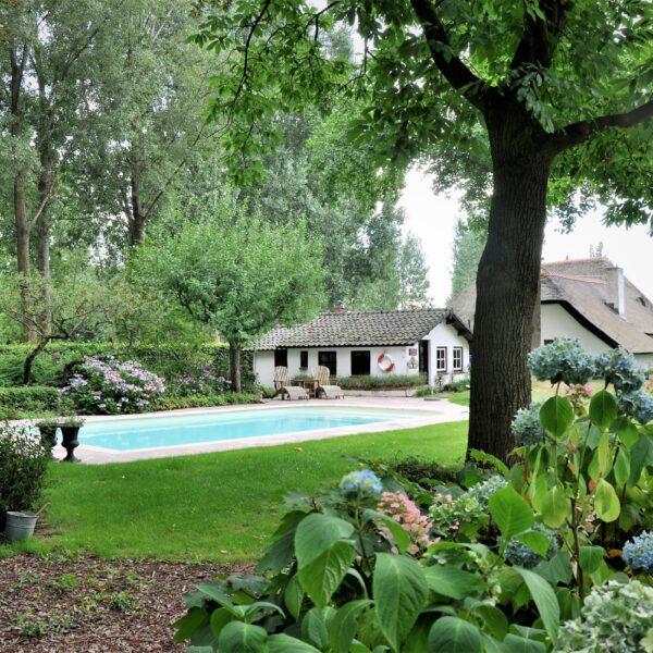 Zwembad in de tuin - Natuursteen.