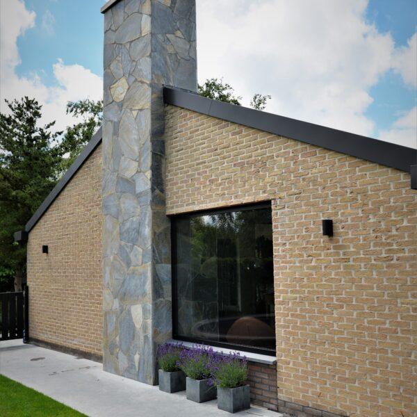 Flagstone-gevelbekleding - schoorsteen villa