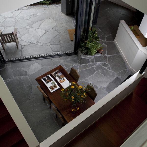 Grijze Flagstones architectuur