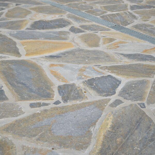 Waterafvoer voor Flagstones