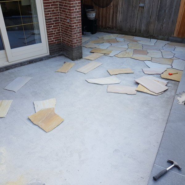 Flagstones project Crazy Paving