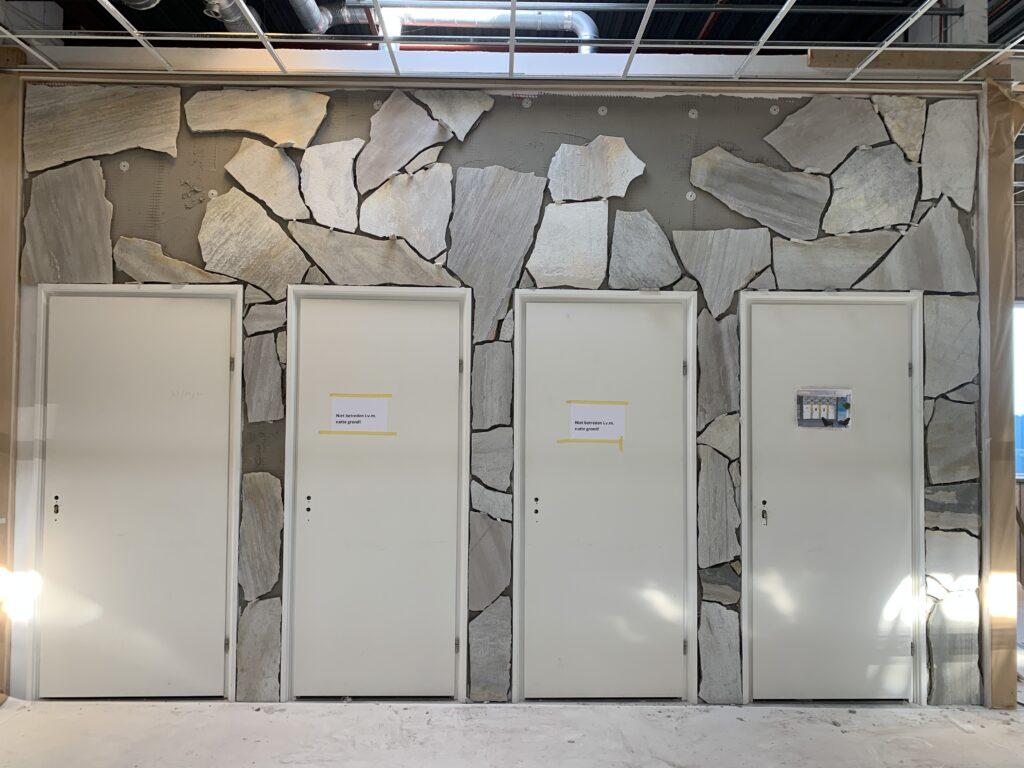 Flagstones op de muur