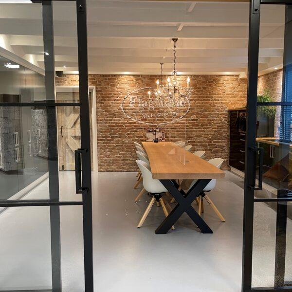 De keuken van The Flagstone Company met Baksteenstrips