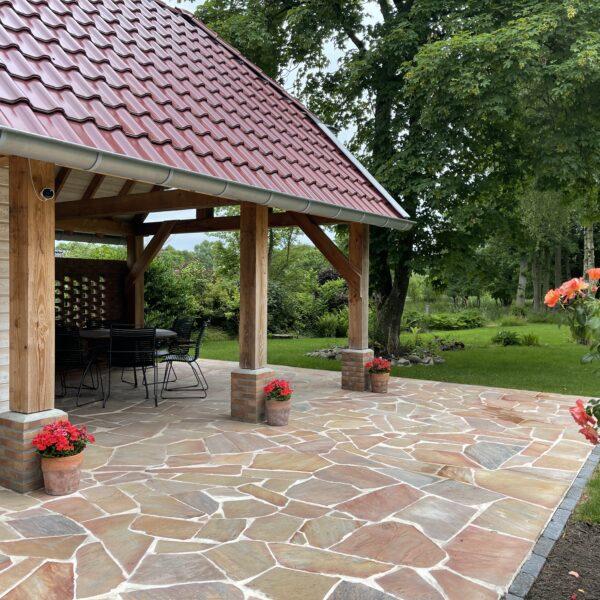 Flagstones in de tuin