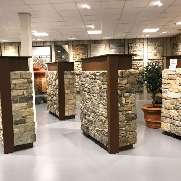 Diverse voorbeelden natuurstenen muren bij The Flagstone Company